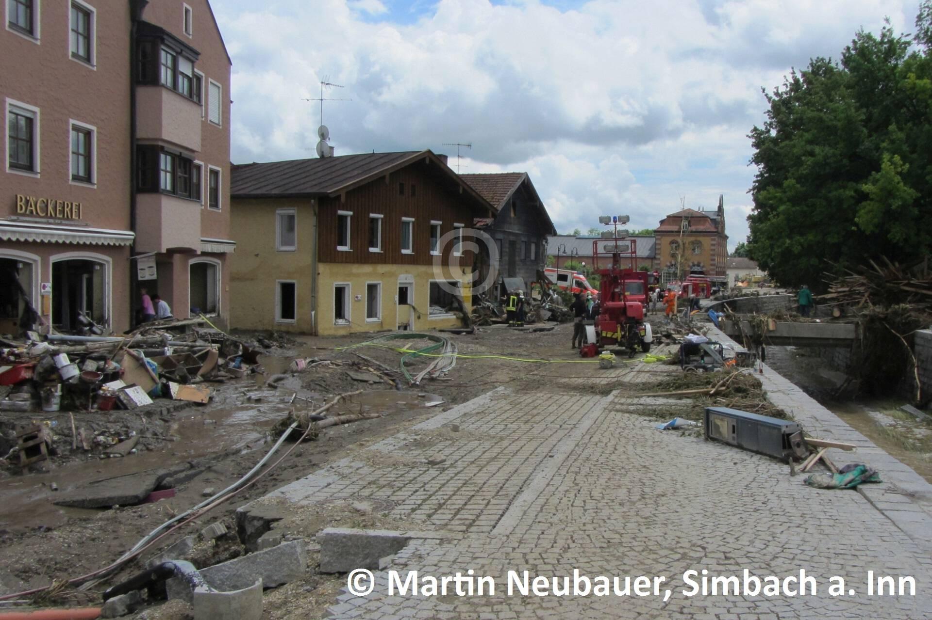 Bachstraße Richtung Bürgerhaus