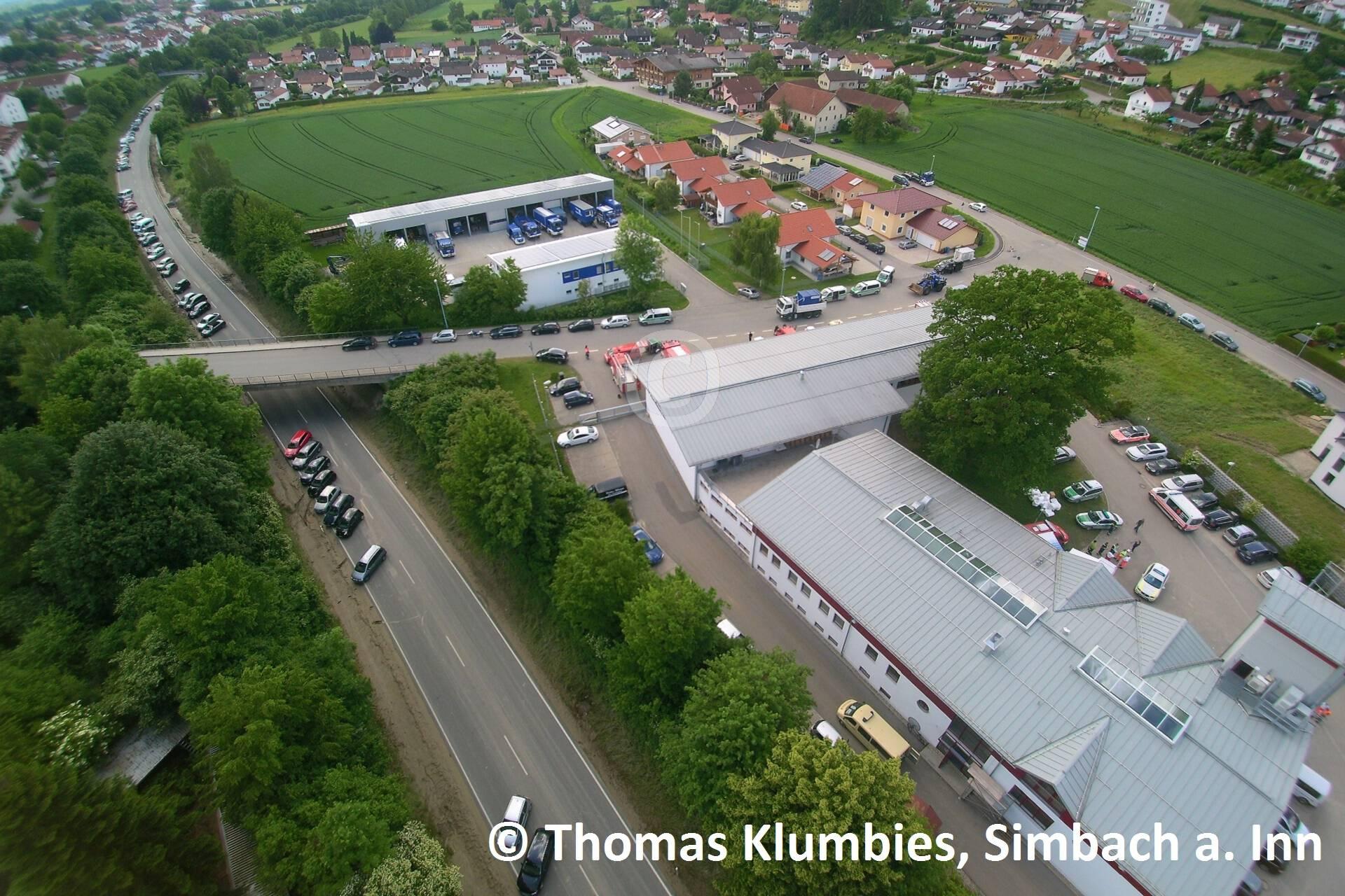 Blick auf das Simbacher Feuerwehrhaus