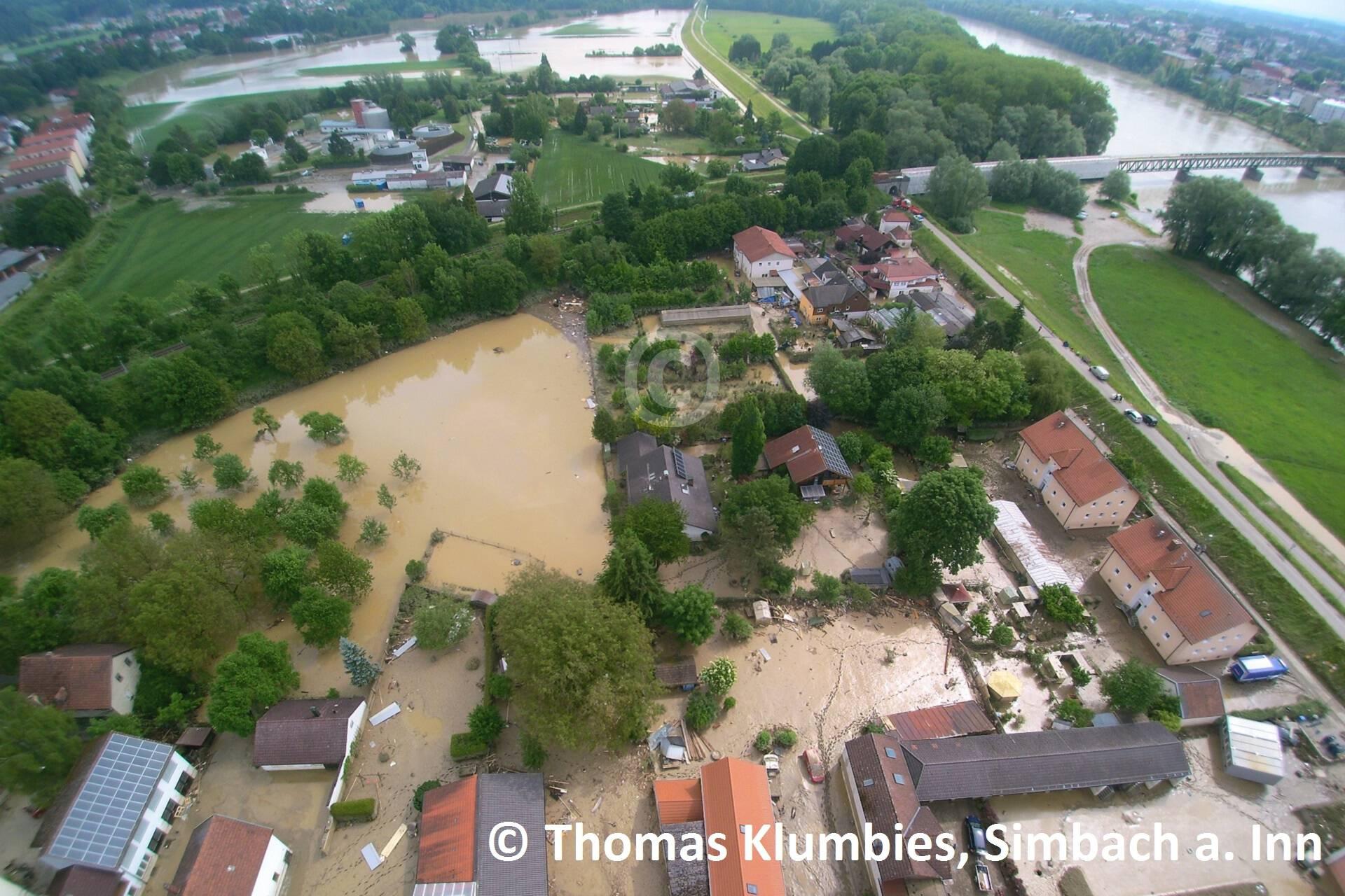 Blick ins östliche Überflutungsgebiet