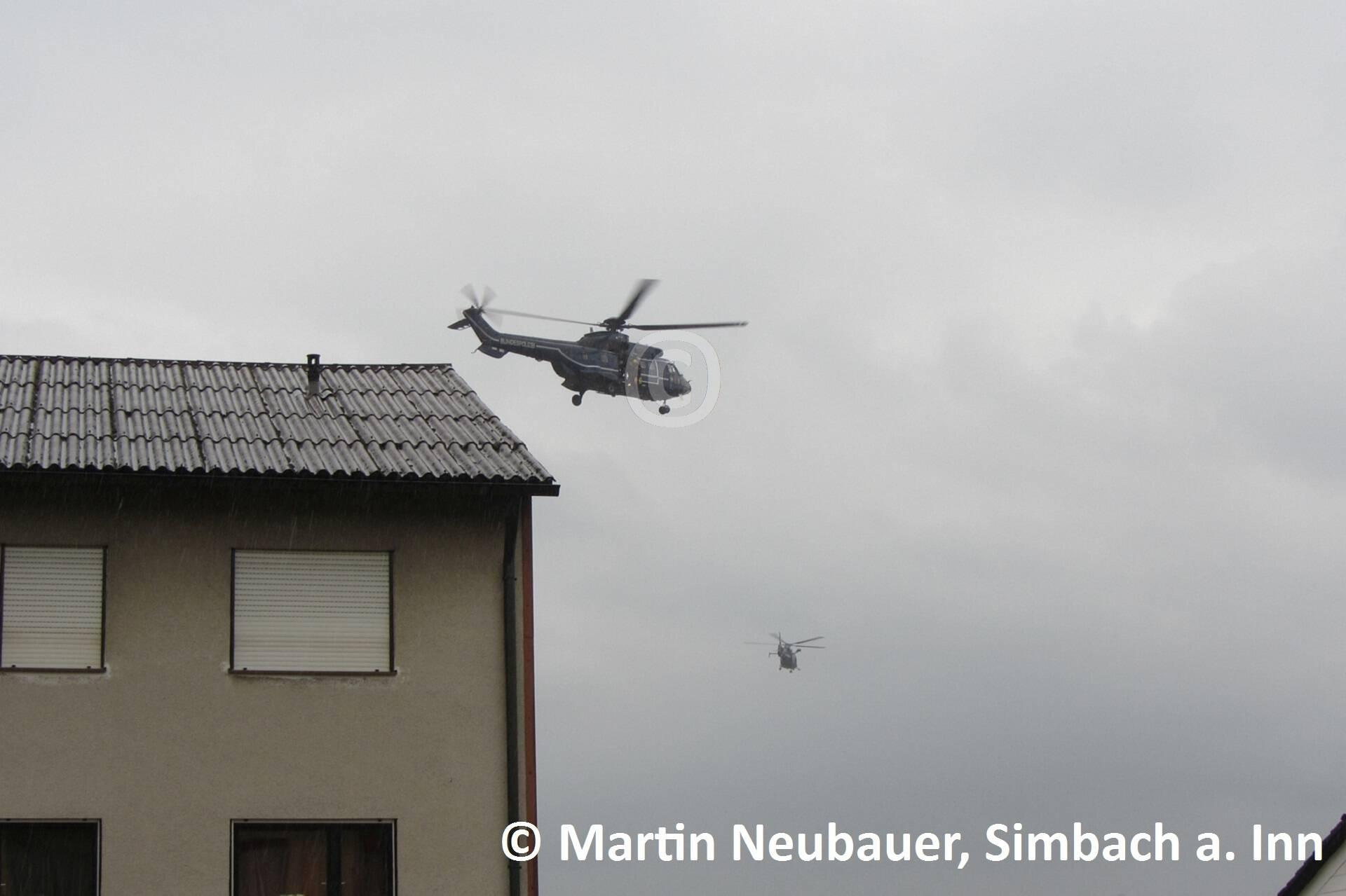 Die Hubschrauber bei der Menschenrettung