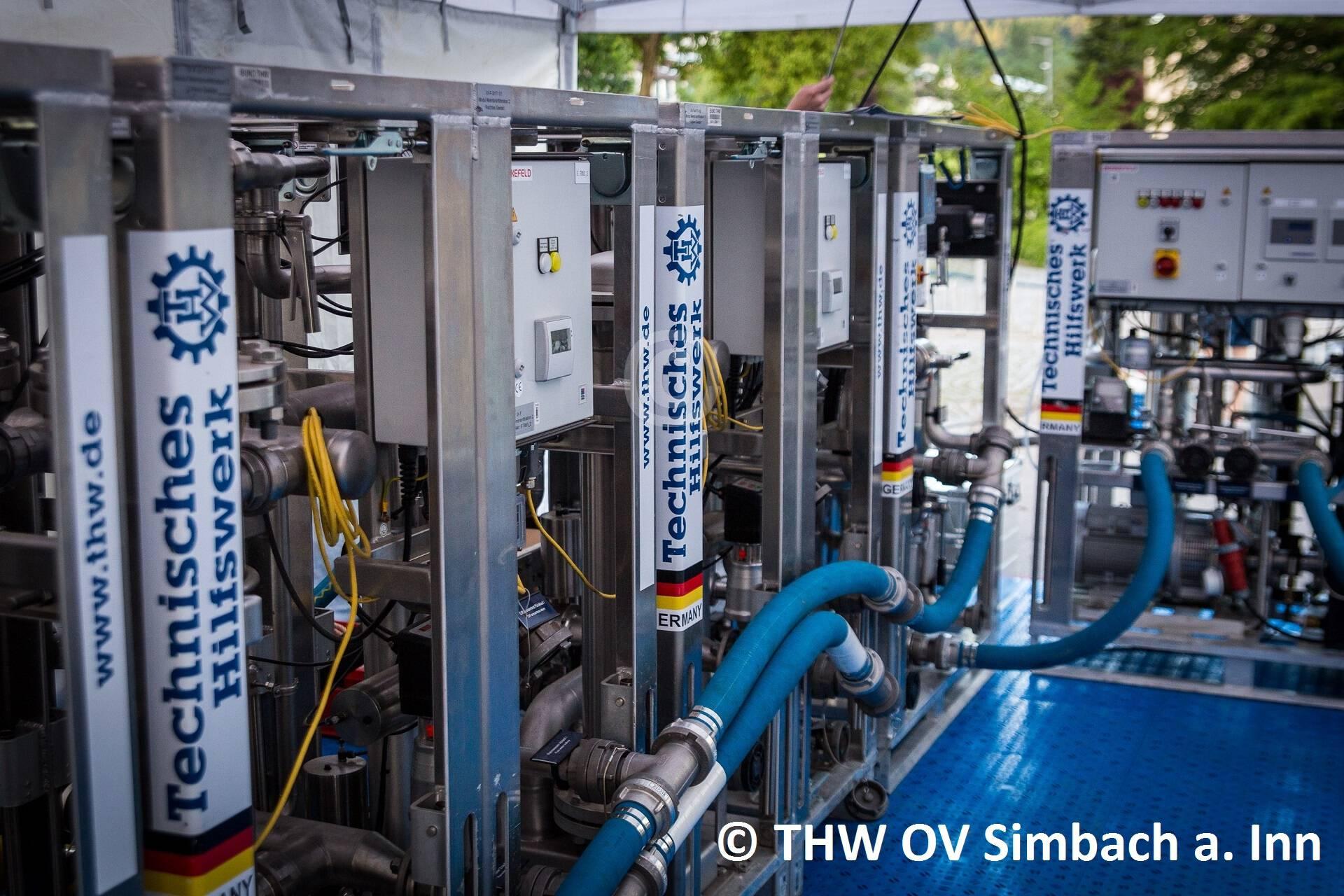Trinkwasseraufbereitungsanlagen des THW