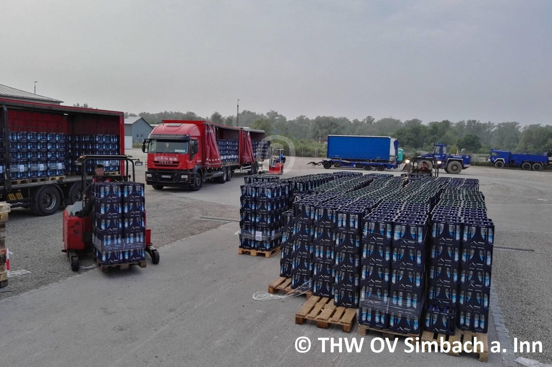 Trinkwasserlieferung auf dem Dultplatz