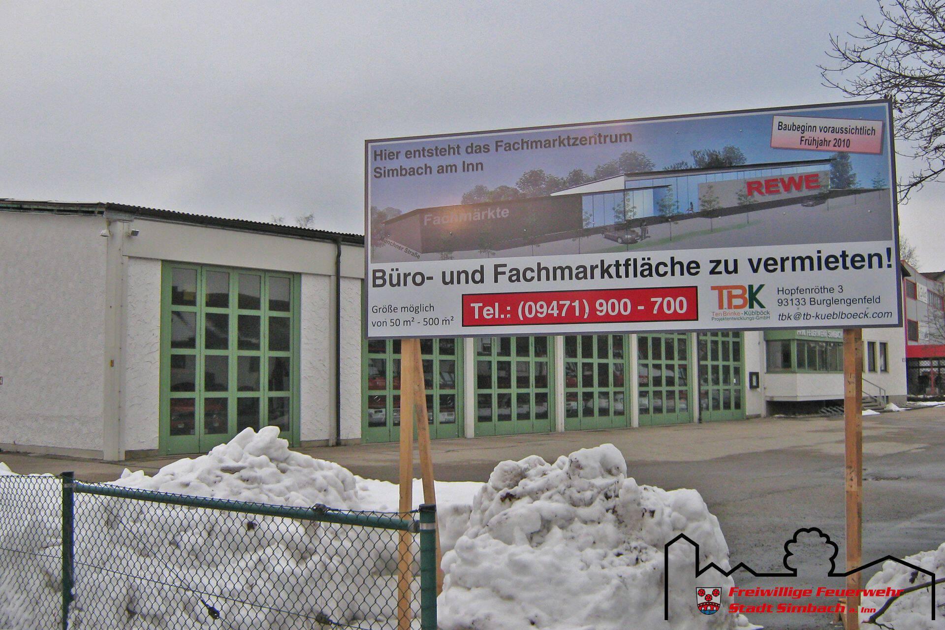 Bautafel Fachmarktzentrum