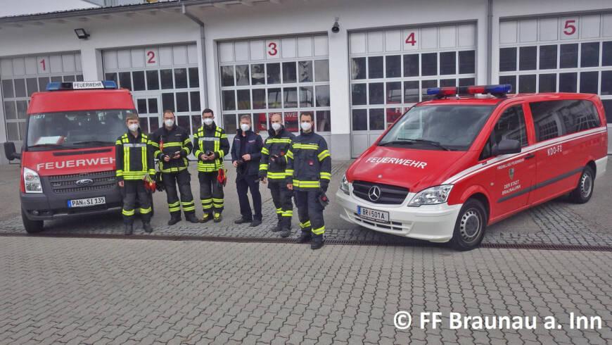 Funkübung mit den Kameraden aus Braunau